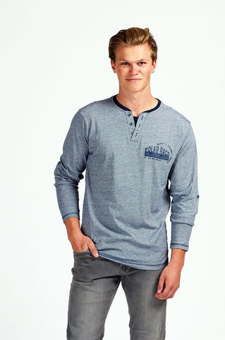 Men's T-Shirt L/S Fashion Henley/Asst/Asst