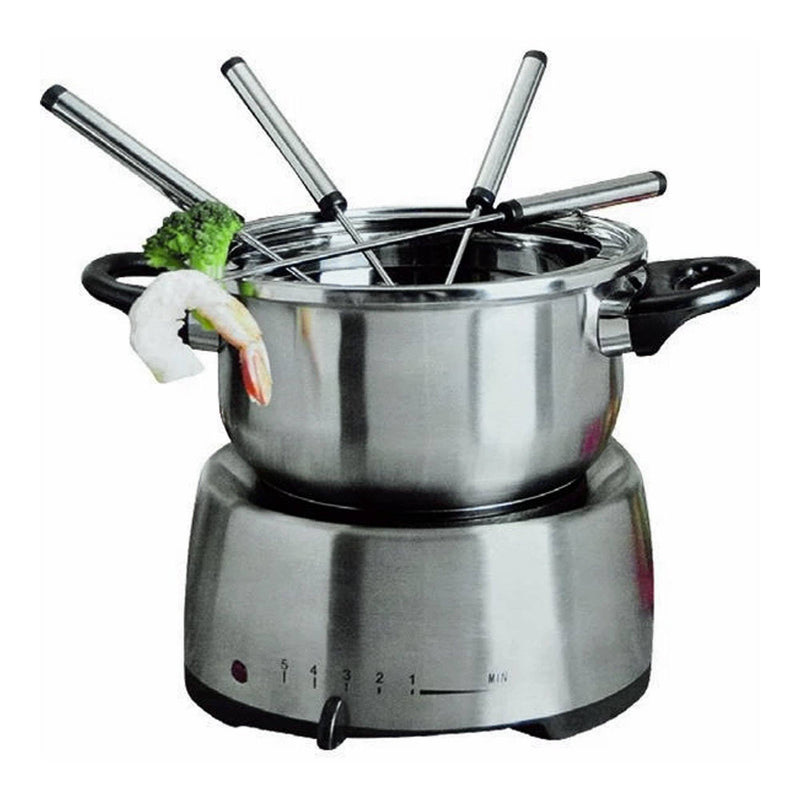 Electric Stainless Steel Fondue Pot Set - Magasins Hart | Hart Stores