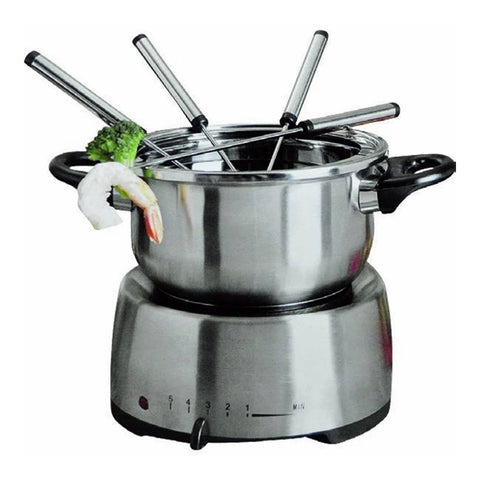 Electric Stainless Steel Fondue Pot Set
