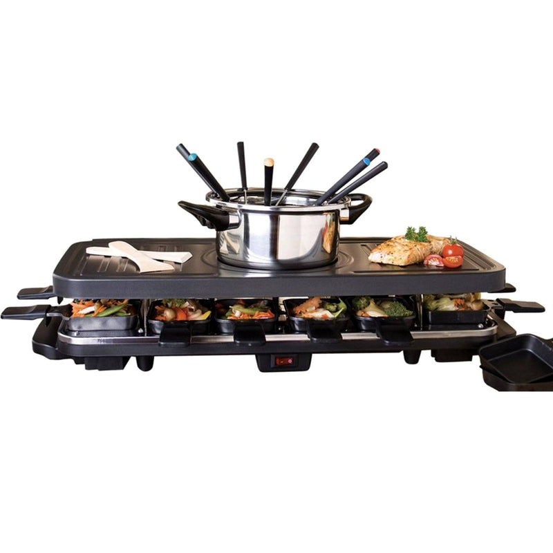 8 Person 3-in-1 Electric Raclette - Magasins Hart | Hart Stores