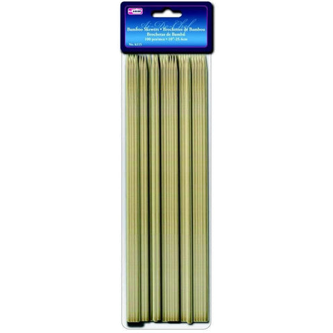 100 Brochettes de Bambou 10po | Bamboo Skewers 100 10in