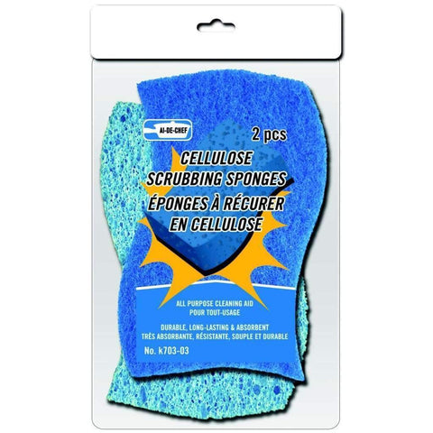Cellulose Scrubbing Sponges 2pc