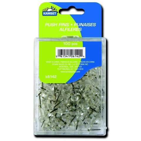 100 Push Pins - Clear