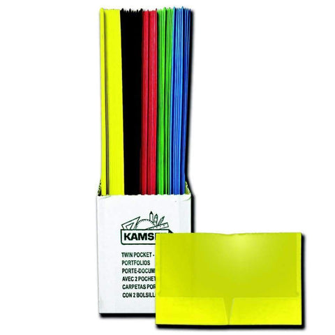 Twin Pocket Plastic Portfolio 50pc