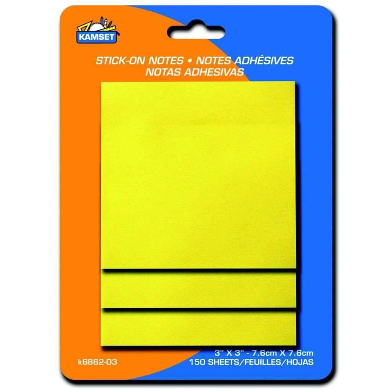 "Stick On Notes - 3"" X 3"" - Magasins Hart 