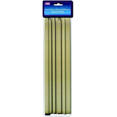 50 Brochettes de Bambou 12po | Bamboo Skewers 50 12in