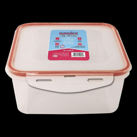 Surelock Food Container Square 1.3l