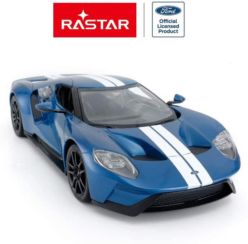 RASTAR RC Car | 1/14 Ford GT Remote Control RC Race Toy Car for Kids, Open Doors by Manual, Blue (27MHz) - Magasins Hart | Hart Stores