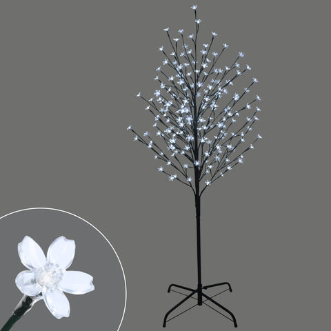 5' Arbre Cerisier Avec 196Lum Del | 5' Led Light Up Cherry Tree, 196 Lights