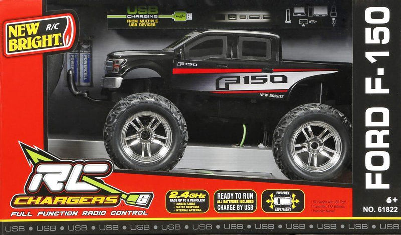 "New Bright 1:18 (11"") R/C Chargers Trucks Assortment - Magasins Hart 