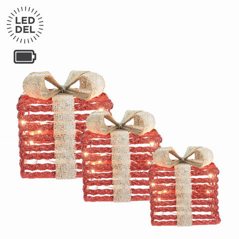 "Ens/3 Bte Cadeau A/Lum.7-9-11"",Pile 