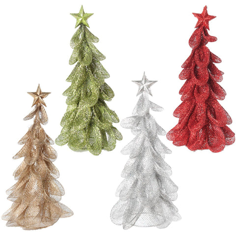 "4Asst 12"" Arbre Fil De Meche A/Brillant 