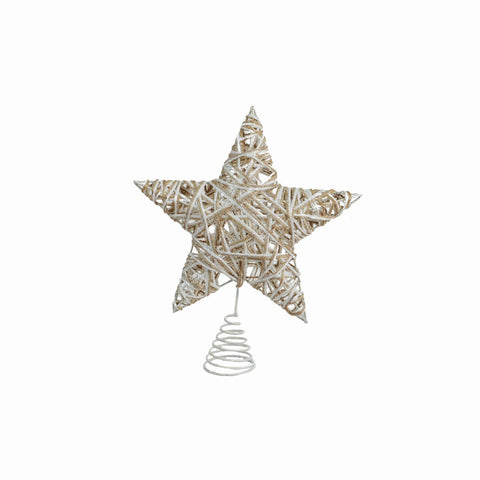 "10"" Wire Burlap Tree Top Star"