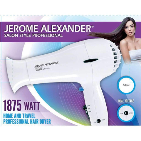 Hair Dryer 1875 Watt Dual Voltage Jerome Alexander