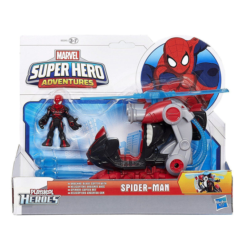 Playskool Heroes Marvel Super Hero Adventures Arachno-Blade Copter Vehicle with Big Time Spider-Man Figure - Magasins Hart | Hart Stores