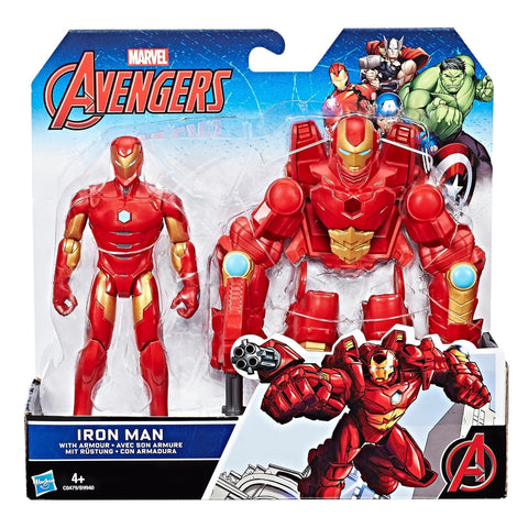 Marvel Avengers - Figurine Iron Man de 15 cm avec armure | Marvel Avengers 6-Inch Iron Man Figure and Armor