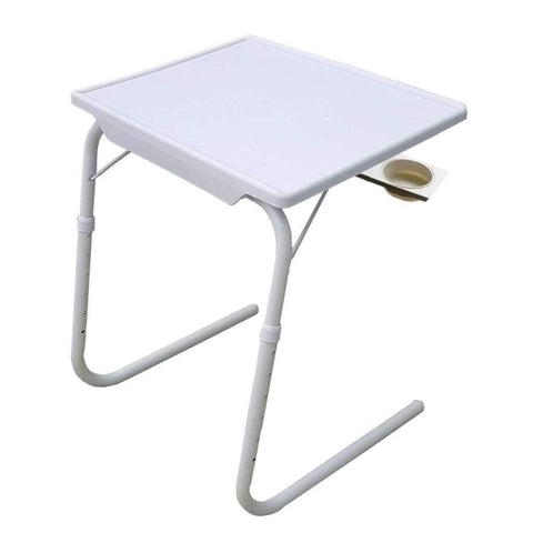 Table réglable ajustable avec porte-gobelet | Adjustable Table With Cup Holder