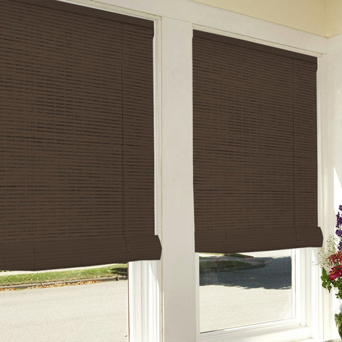 Bamboo Look Roll-Up Blinds - Brown
