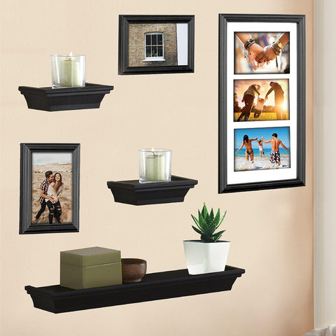 Lauren Taylor - Arrangement de cadres 6mcx noir | Lauren Taylor - Wall Frames 6pc Set Black