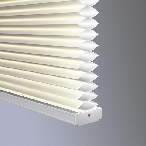 Pleated Cellular Blockout Cordless Blinds - White