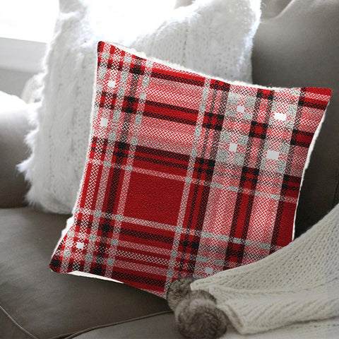 Christophe Plaid Microfleece and Sherpa Cushions