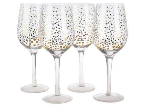 Ensemble de 4 verres à vin Sparkling | Set of 4 Sparkling Wine Glasses