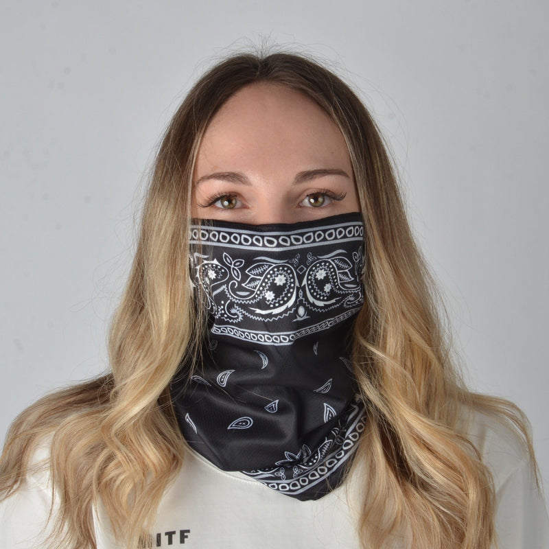 Bandana Face Mask - Black Paisley (Available online only) - Magasins Hart | Hart Stores