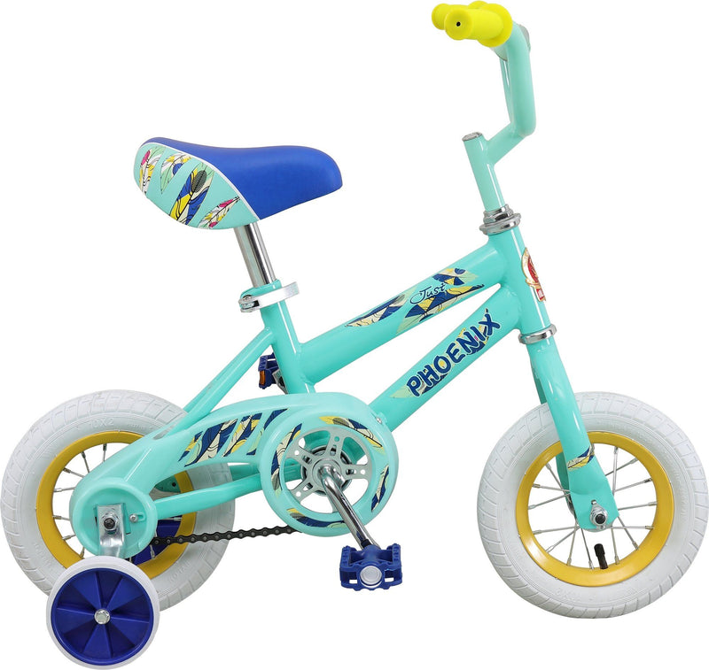 "Phoenix - Girls Bike with Side Wheels (10"") - Magasins Hart 