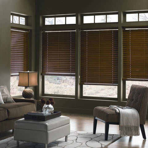 Stores Imitation Bois - Espresso | Imitation Wood Blinds - Espresso