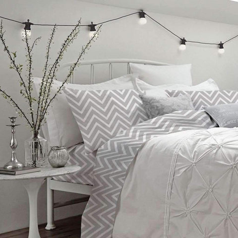 Chevron Sheet Set - Grey