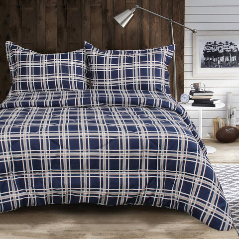 Lauren Taylor - Spencer 3pc Printed MF Comforter Set
