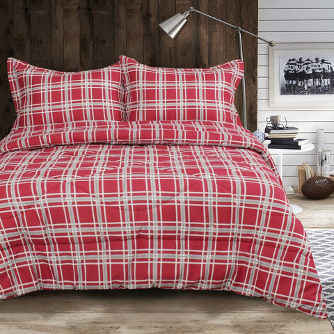 Lauren Taylor -  Ensemble de douillette imprimée MF 3mcx - Spencer | Lauren Taylor - Spencer 3pc Printed MF Comforter Set