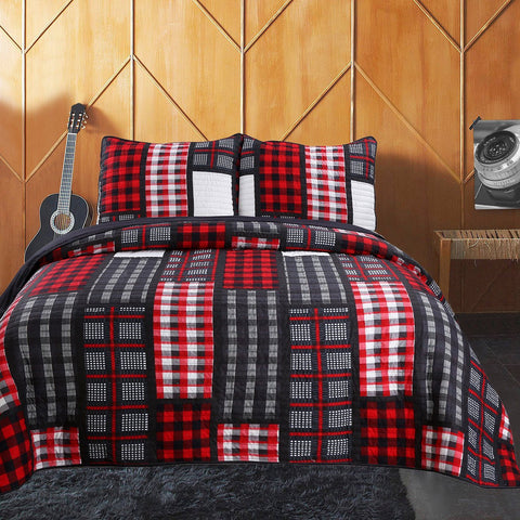 Brent 3pc Ensemble de Courtepointe | Brent 3pc Quilt Set