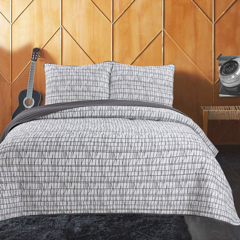 Zack 3pc Ensemble de Courtepointe | Zack 3pc Quilt Set