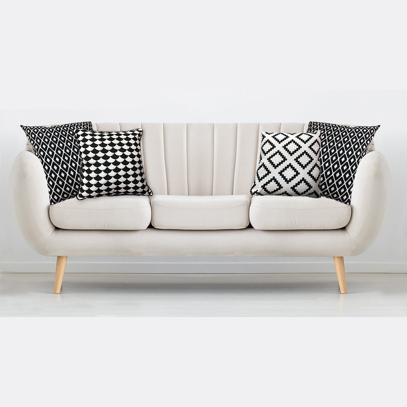 Chanel Black and White Decorative Cushions 18x18 - Magasins Hart | Hart Stores