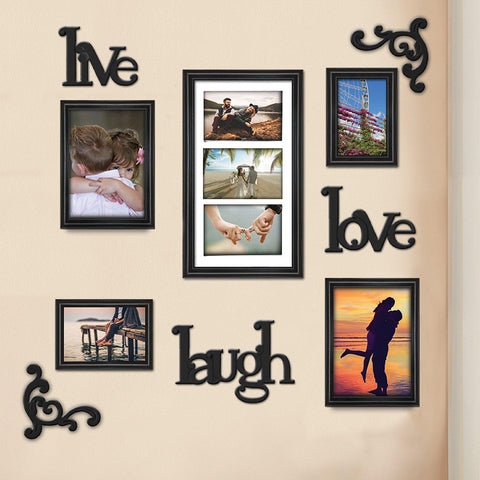 Lauren Taylor - Live Laugh Love 9 Piece Wall Frames Set