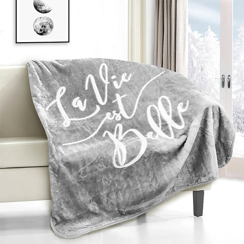 Lauren Taylor - La Vie est Belle Novelty Micro Mink Throw