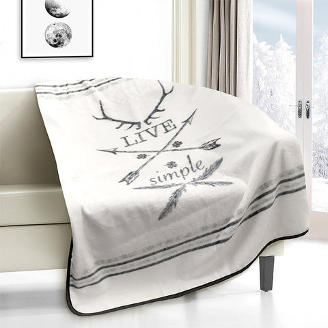 Lauren Taylor - Live Simple Novelty Micro Mink Throw