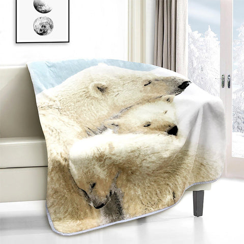 Lauren Taylor - Polar Bears Novelty Micro Mink Throw