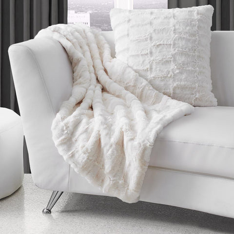 Lauren Taylor - Monroe Faux Fur Throw