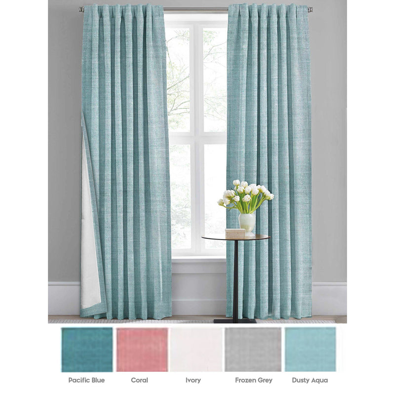 Mathis - Energy Saving Lined Faux Linen Blackout Panel - Magasins Hart | Hart Stores