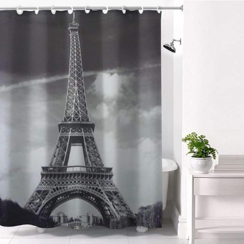 Paris Hookless Shower Curtain