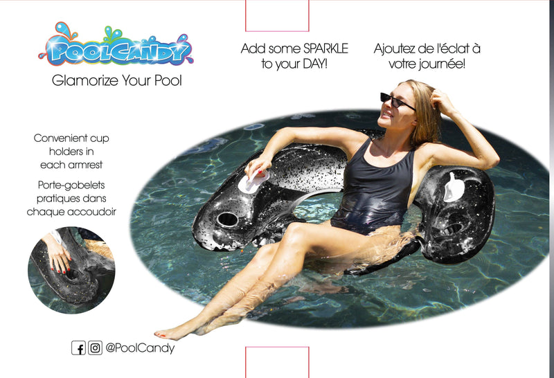 "Pool Candy - 48"" Black Onyx Glitter Pool Tube - Magasins Hart 