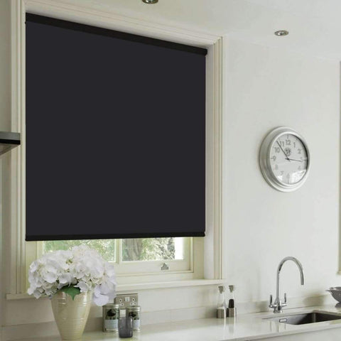 Cordless Blackout Roller Blind - Black
