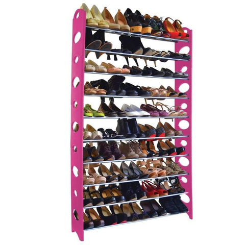 Shoe Rack - Pink - 50 Pair
