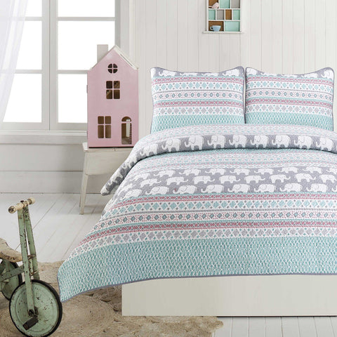 Little Adrien - Sophie 3 Piece Kids Quilt Set
