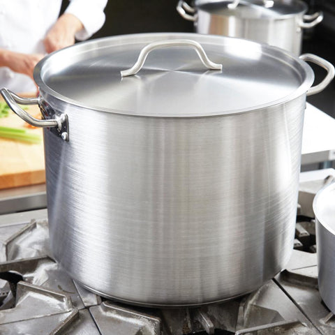 Marmite en acier inoxydable robuste avec couvercle et poign̩s | Heavy Duty Stainless Steel Pot with Lid and Handles