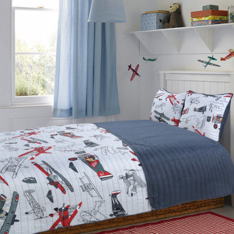 Little Adrien - Airplanes 3 Piece Kids Quilt Set