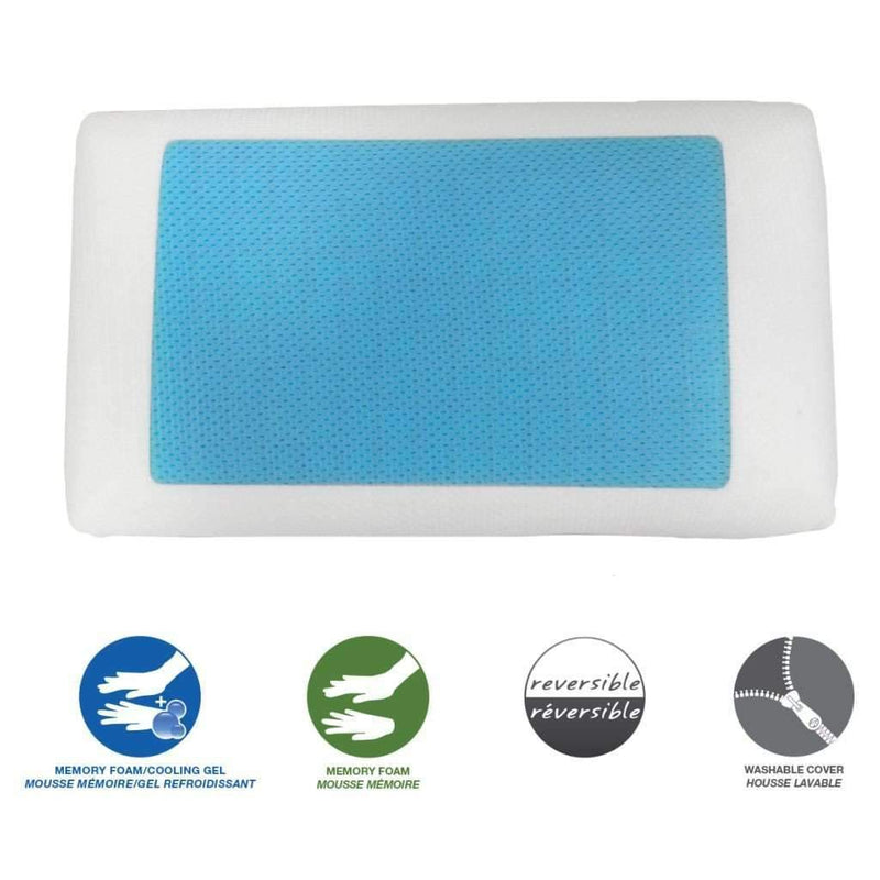 Memory Foam Pillow With Cooling Gel - Magasins Hart | Hart Stores