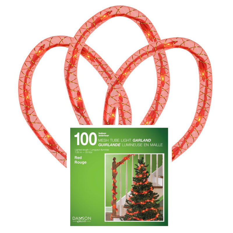 100 Mini Ind Incand 25' Mesh Tube Lights - Magasins Hart | Hart Stores